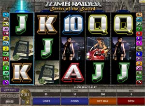 Play Tomp Raider Secret of the Sword Slots